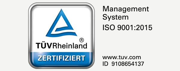 TÜV ISO 9001zertifiziert