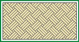 Flechtboden diagonal