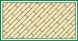 Gerader Verband Diagonal