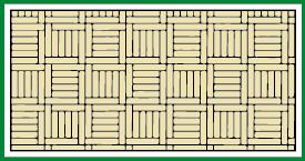 Kassette mit Zwischenfriese geflochten