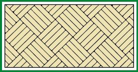 Würfelboden diagonal